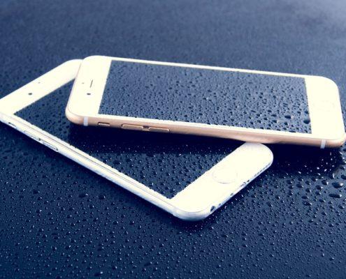 iPhone schermo blu